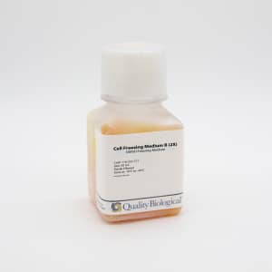 Cell Freezing Medium B works with Cell Freezing Medium A to protect cells from damage after freezing and thawing.